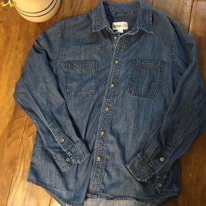 4/$25 Feed Target Denim Button Front Shirt